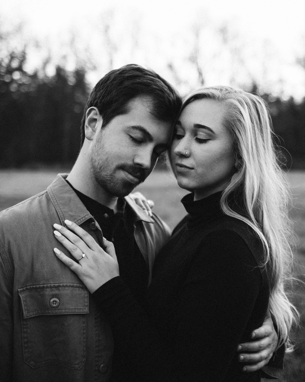 modern michigan engagement photographer
