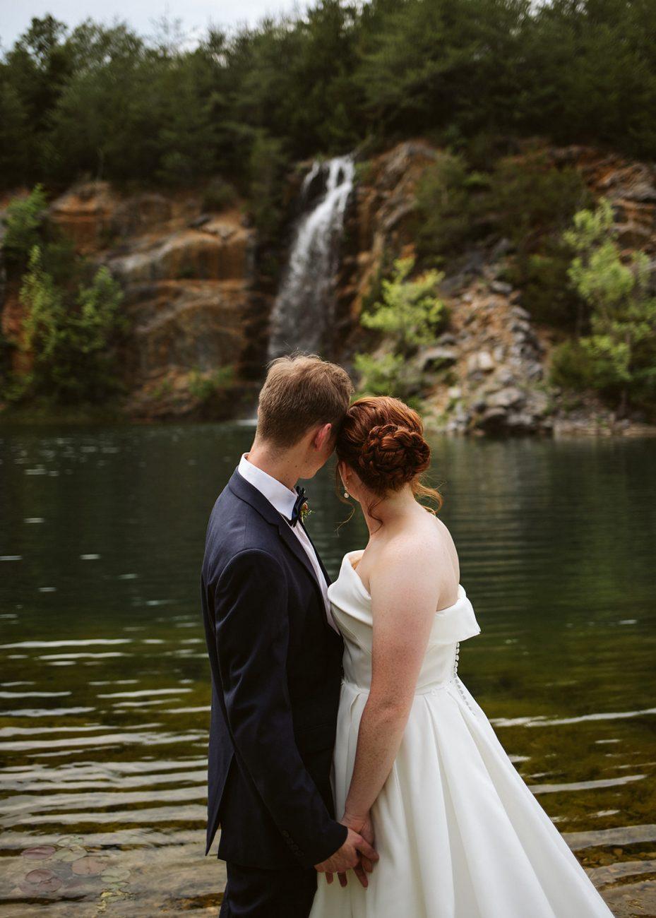 Tennessee Mountain Wedding Waterfall Portraits